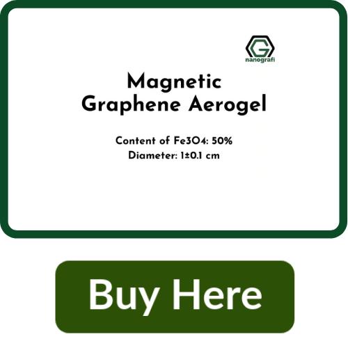 Magnetic Graphene Aerogel, Content of Fe3O4: 50%, Diameter: 1±0.1 cm
