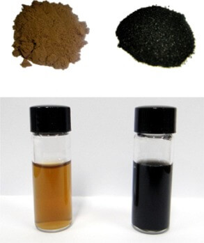 Graphene Oxide Before (left) and After (right) Reduction